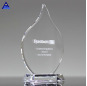 Custom Cheap High Quality Olympia Clear Flame Crystal Award For Event Souvenir