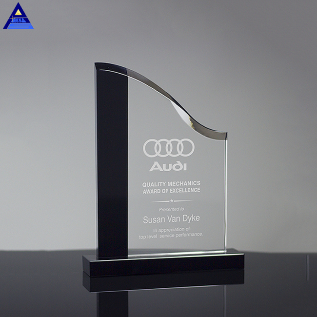 Wholesale Different Shapes Crystal Glass Trophy Awards Plaque
