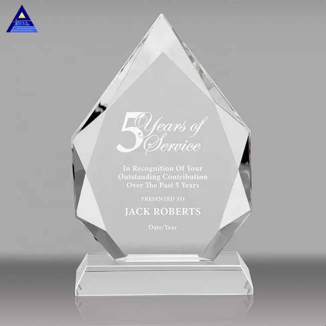Wholesale customizable crystal plaques trophy awards
