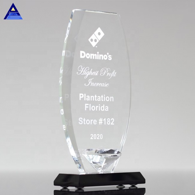 Sell Well Clear Glass Crystal Shield Diamond Promotion Gift For Business
