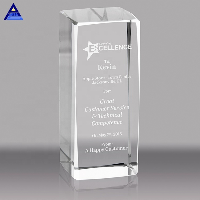 2020 Factory Price Glass Trophy Plaque,Blank Crystal Glass Trophy For Laser Engraving
