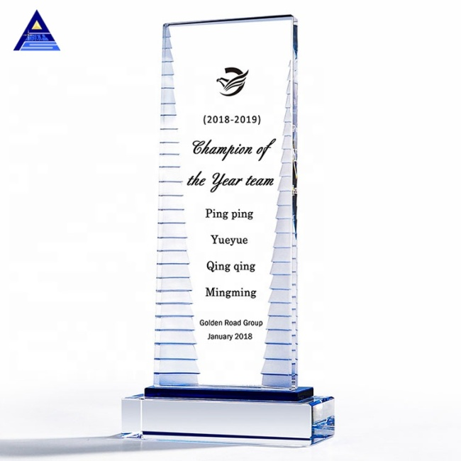 New 2021 Hot Sale Factory Glass Engraved Cube K9 Clear Crystal Award