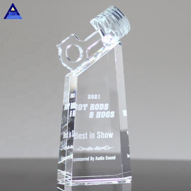 Wholesale Low Price High Quality Crystal Piston Motor Sport Trophy