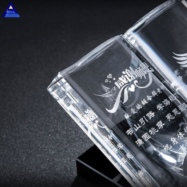 Elegant Engraving Muslim Gifts Quran Book Mini Wedding Crystal Islamic Gift For Guest Takeaway Souvenir Crystal Glass Book