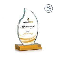 Award Blank Plaque Custom Jade Shield Art Glass Crystal Trophy