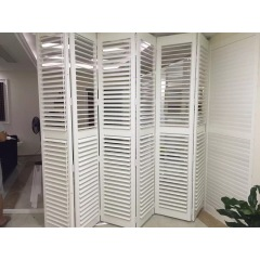 Cream color bifold shutter