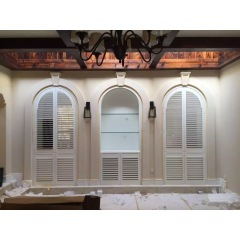 Arc shape wooden plantation shutter