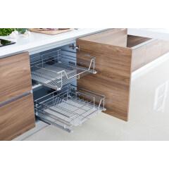 Modern Melamine Modular Kitchen Cabinet from China Kitchen Cabinet Factory