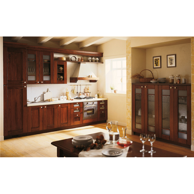 Solid wood kitchen cabinet 001