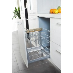 Modern Economical White Color Melamine Wooden Kitchen Cabinet