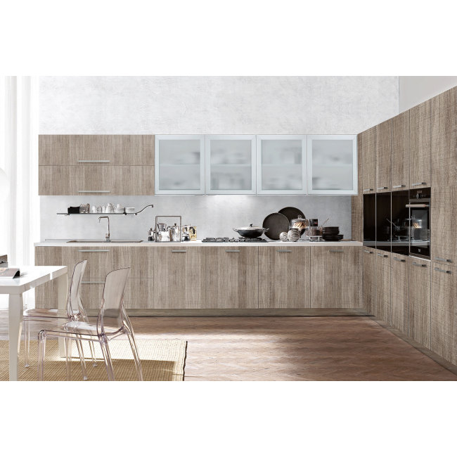 Italian Style Melamine Wooden Kitchen Cabinet Simple Design