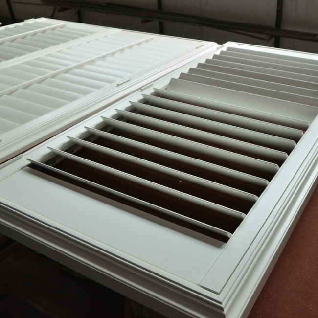 plantation shutter with middle board
