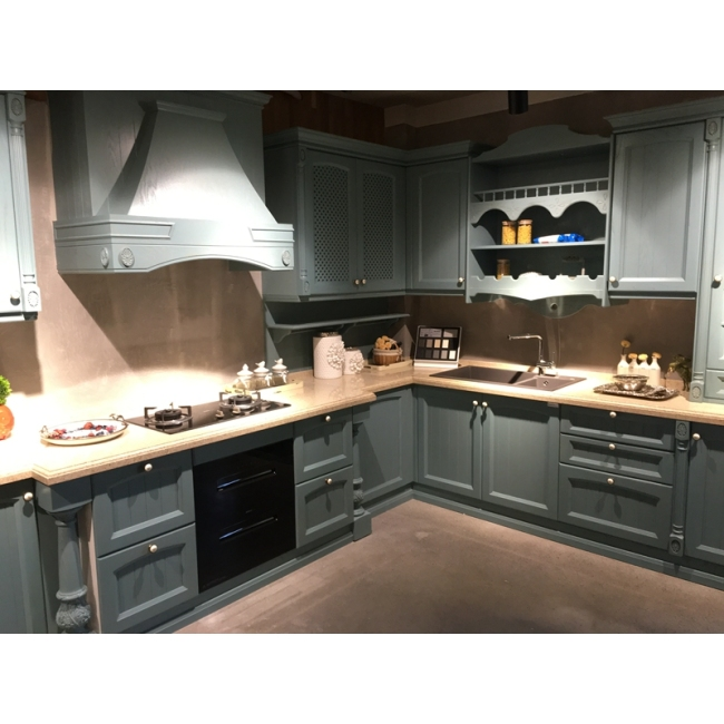 Solid wood kitchen cabinet 013