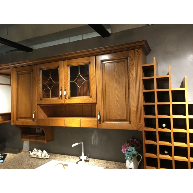 Solid wood kitchen cabinet 015