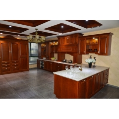 Solid wood kitchen cabinet 016