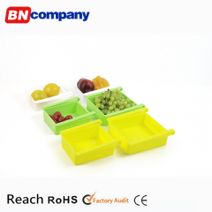 Household Plastic Food-grade PP Fridge Organizer Fridgerator Storage Box