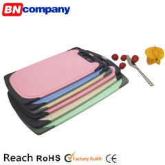 Anti-microbial Wheat Straw Material Cutting Board Skid Resistance Chopping Block