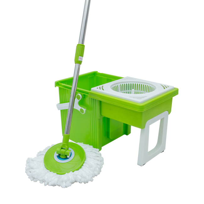 Double Mop Bucket 360 Degree Spin Mop Sweep Easy Broom Cleaning Mops
