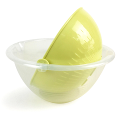Kitchenware Eco-friendly Plastic Rotatable Drain Basket Fruit Vegetable Food Colander