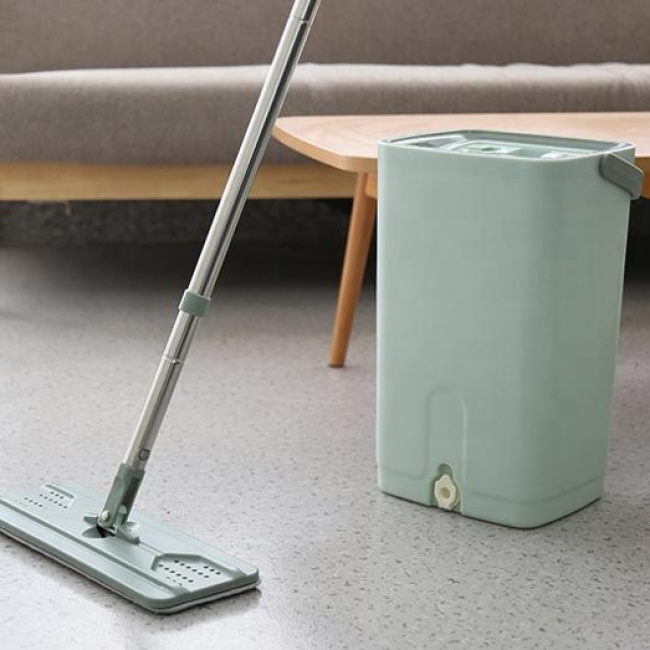 Free Hand Washing Lazy Mop Bucket Magic Cleaner Rotate Self-wringing Squeeze Mops
