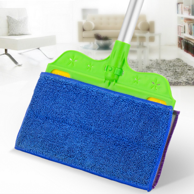 Double Side Magnetic Window Cleaner Microfiber Mop 2 in 1 Broom