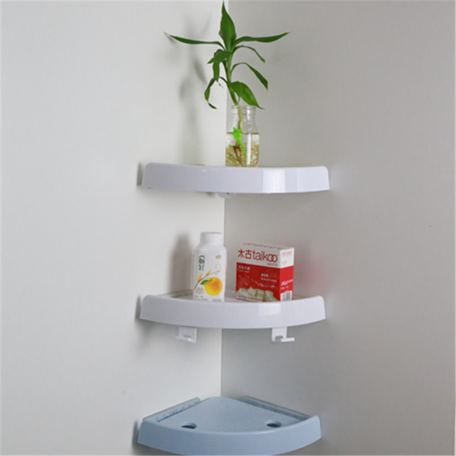 Corner Suction Shelf Shower Basket Caddy Rack Storage Bath Soap Holder Angle of Bathroom Shelf Plastic