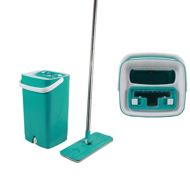 BNcompany Hot Selling Stainless Steel Flat Self Washing Mop Lazy Mop with Bucket