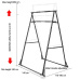 BNcompany Home Gym Equipment Power Tower Parallel Bars Exercise Pectoralis Muscle Pull-ups