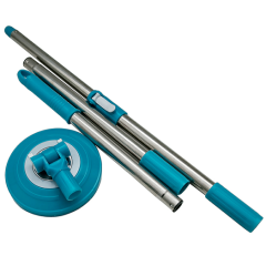 Aluminium extendible mop stick with extensible steel mop stick cleaning floor mop stick