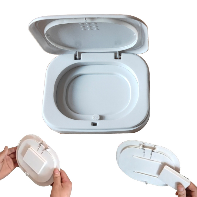 BNT02 16 liter plastic baby diaper pail pet waste odorless bin odor free oem with lid
