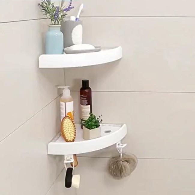 Plastic Triangle magic  Shelves Shampoo Storage Bathroom Shower Corner storage Shelf