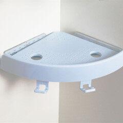 Plastic Shower 90 degree Corner Shelves Bathroom Wall Shelf