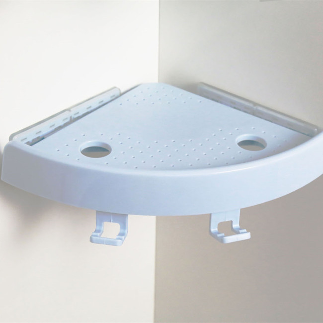 Plastic Shower 90 degree Corner Shelves Bathroom Wall Shelf