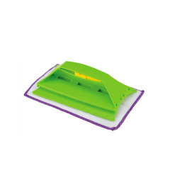 Household multi-function microfiber kitchen cleaning cloth with hand shank