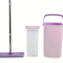 Household Magic Smart Easy Microfiber Flat Mop With Plastic Single Bucket