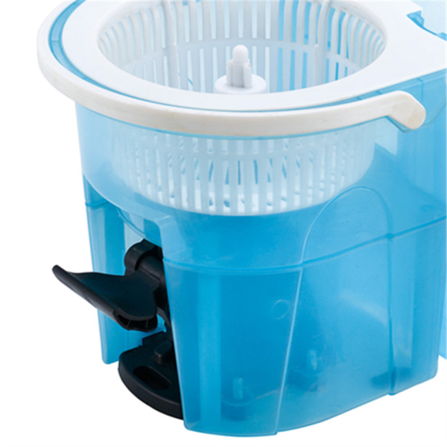 Rotating Magic Mop with Bucket microfiber blue Pedal spin dust magic mop