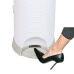 Plastic 25 Liters Oval Baby Diaper Pail Smart Pedal Dustbin