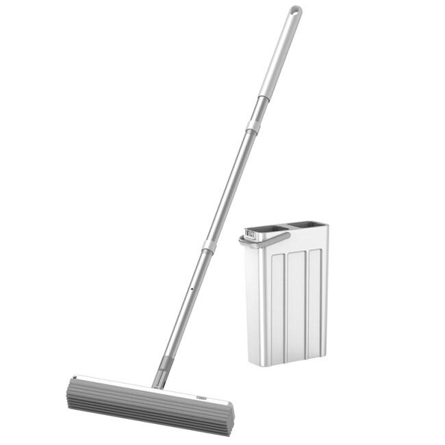 Easy Houseware Floor Cleaning & Drying PVA Sponge Squeeze Mop Flat Mop Set