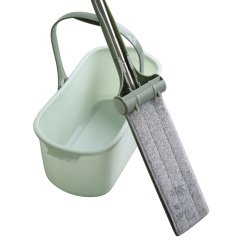 Multipurpose Double Sided Stand up Microfiber Flat Mop Bucket