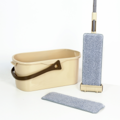 High Quality Portable Home Floor Cleaning Mop Set Squeeze Flat Mop Bucket