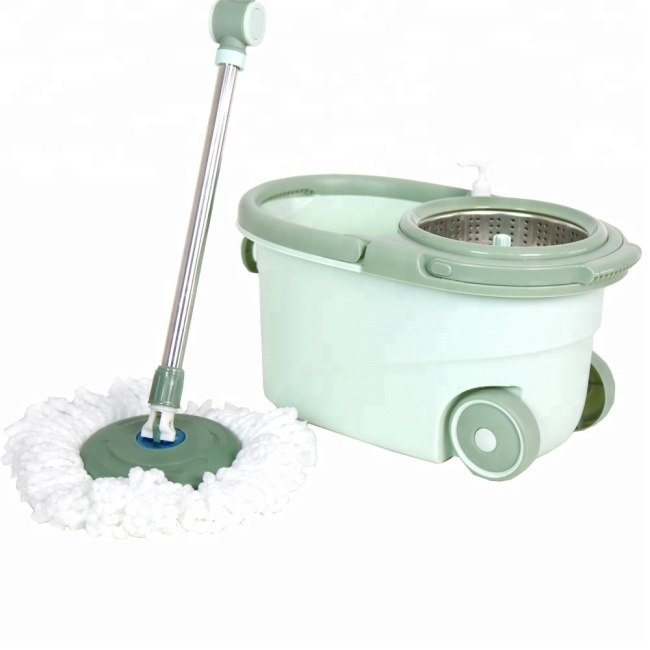 Eco-Friendly Feature and Steel Pole Material Spin Magic Mop Replacement Parts