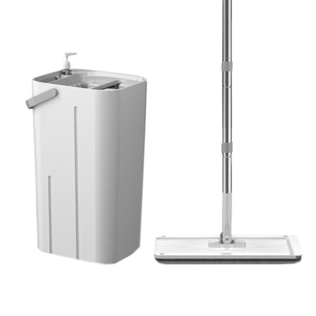 BNcompany BN1911 magic microfibre fabric clean flat mop with squeeze buck