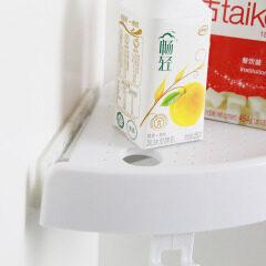 Modern Bathroom Shower Suction Storage Plastic Corner Shower Rack