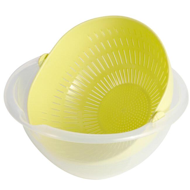 Household Plastic Kitchen 360 Rotating Vegetable Water Filter Fruit Basket