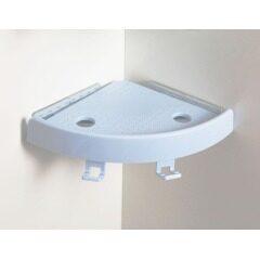 Single Layer Plastic Magic Shelves TPR Suction Bathroom Corner Shelf
