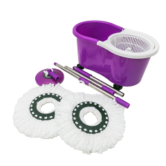 Floor cleaning microfiber cloth mop with easy wheels