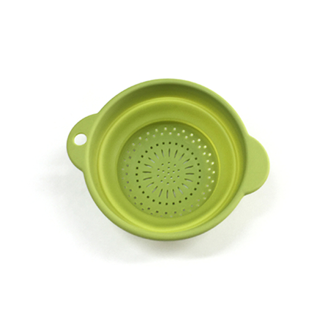 Folding Collapsible Fruit Vegetable Sink Colander Strainer Plastic Kitchen Washing Basket