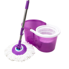 Hand Press Stainless Steel Pole Spinning 360 Magic Mop