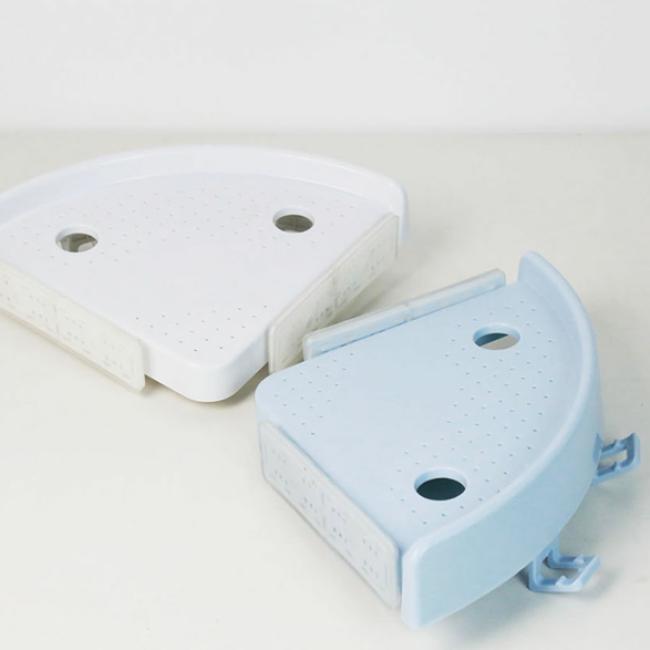 Bathroom Kitchen Corner Storage Rack Plastic Vacuum Suction Cup