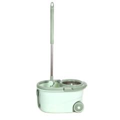 Microfiber Mop Head Big Wheels Floor Cleaning Mop with Spin Bucket